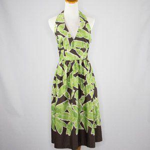 Liz Claiborne Dresses green and brown halter dress
